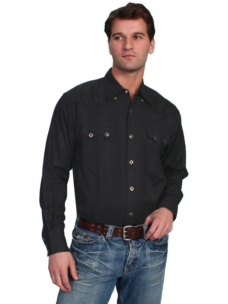 Westernová košile PS-007-BLK-XXL d509c7af14
