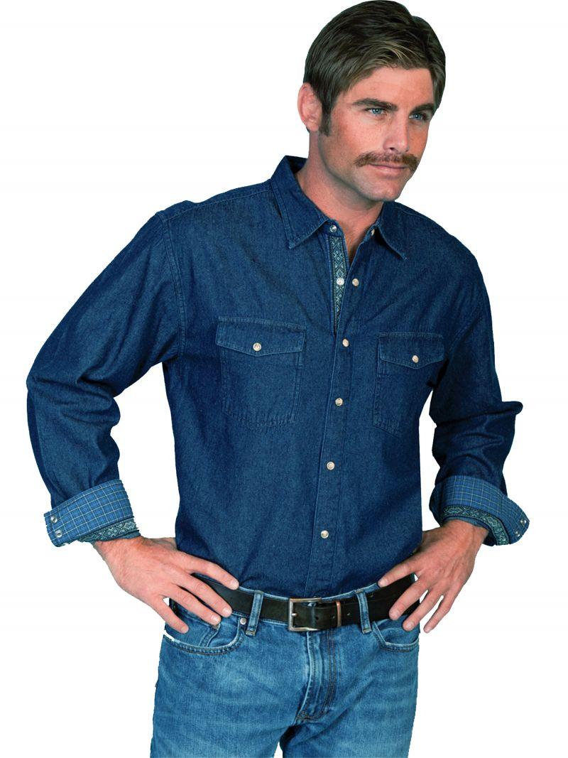 Westernová košile PS-083-BLU-XXL empty 5134e367b4