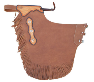 "WESTERN CHAPS  SMOOTH LEATHER ""RODEO"" MODEL"