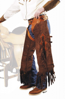 "WESTERN SHORT CHAPS ""RODEO"" MODEL"