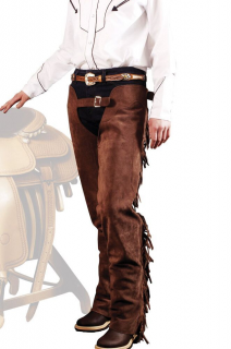 SUEDE WESTERN CHAPS WITH FRANGES
