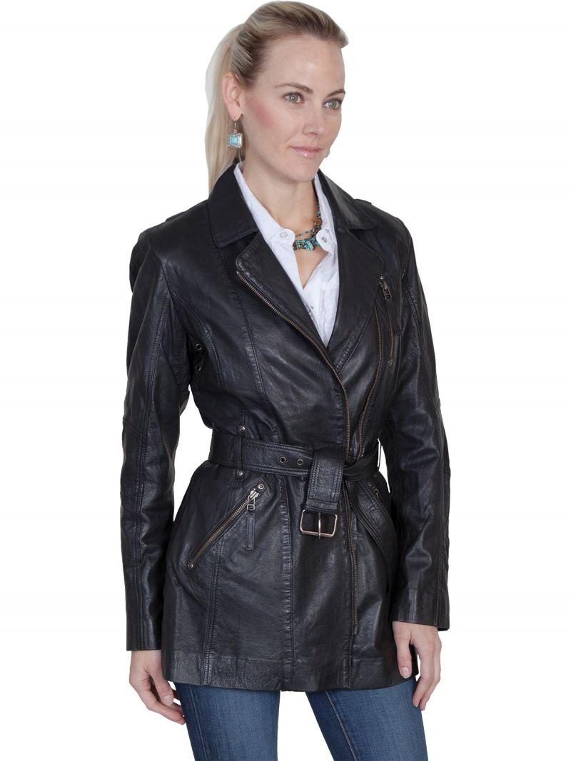 5154398a5 Dámský kožený kabát L330-196-XXL